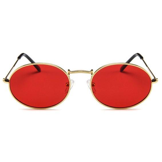Oval flat lenses zonnebril - Rood