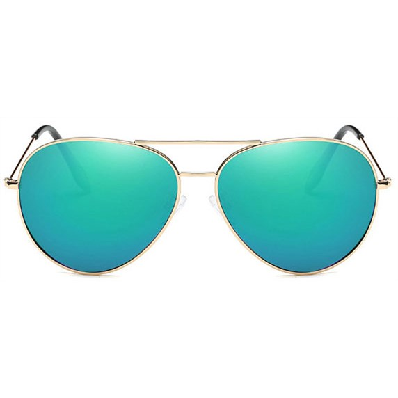 Pilotenbril spiegelglas - Blauw/Groen