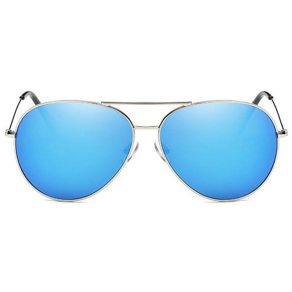Pilotenbril spiegelglazen - Blauw