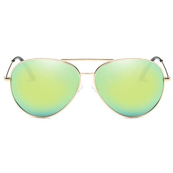 Pilotenbril spiegelglazen - Geel/Groen