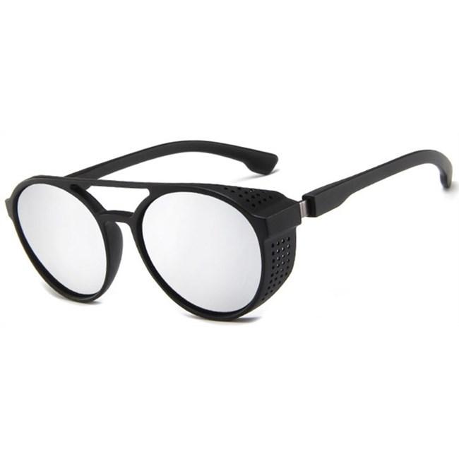 Punk zonnebril - Spiegelglazen zilver