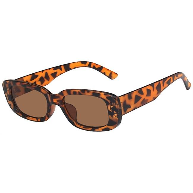 Rechthoek zonnebril - Leopard