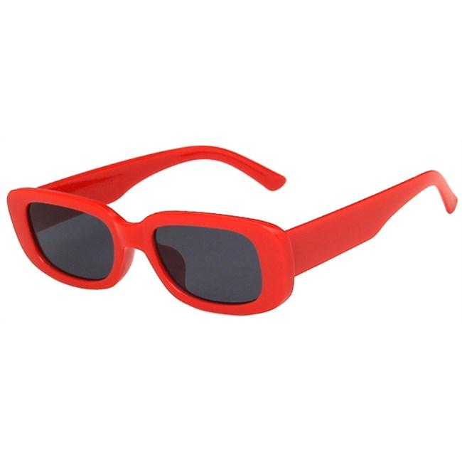Rechthoek zonnebril - Rood