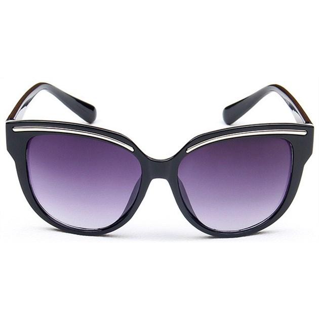 Retro cat-eye zonnebril - Zwart