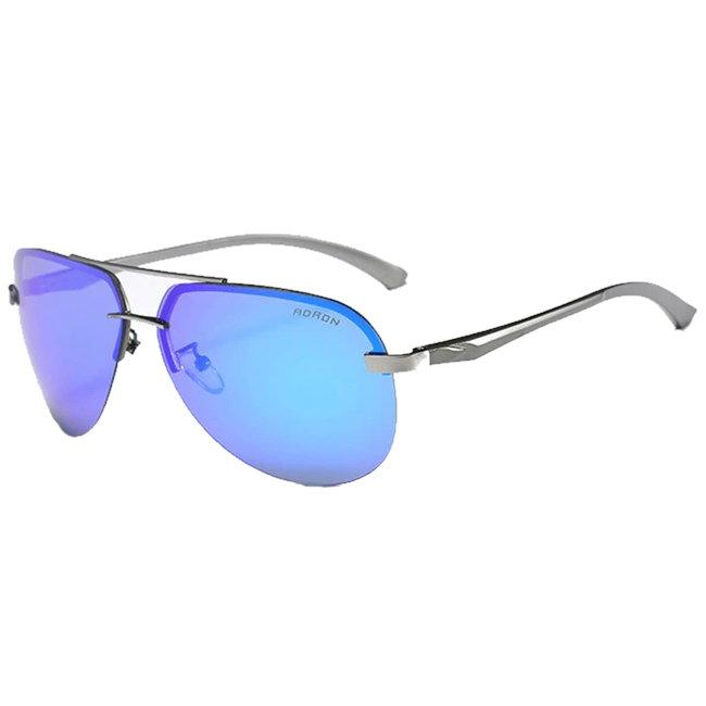 Randloze aviator zonnebril - Blauw Gepolariseerd