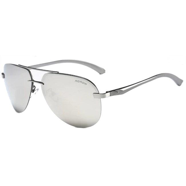 Randloze aviator zonnebril - Zilver Gepolariseerd