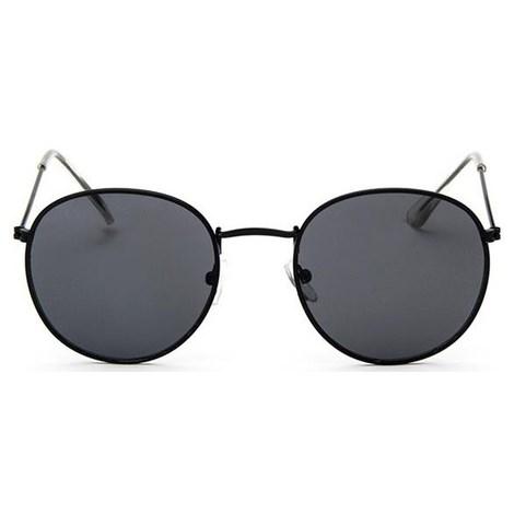 Round metal zonnebril - Zwart