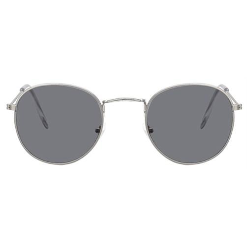 Round metal zonnebril - Grijs
