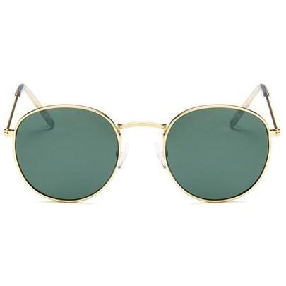 Round metal zonnebril - Groen