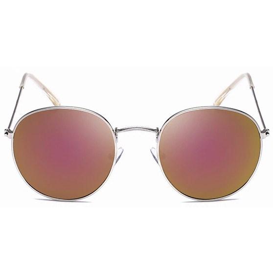 Round metal zonnebril - Paars