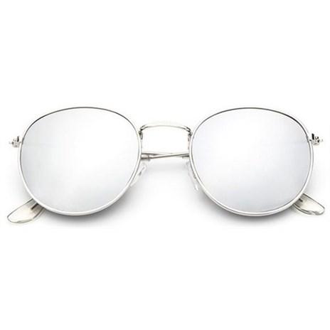 Round metal zonnebril - Zilver