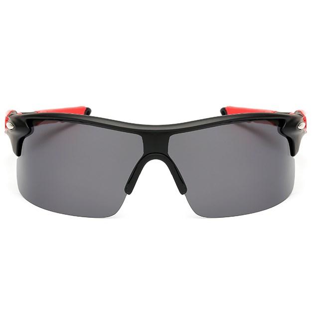Sport zonnebril - Zwart/Rood Gepolariseerd