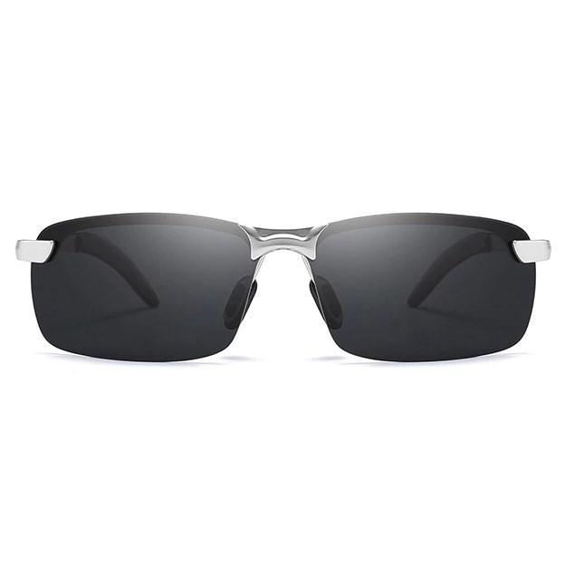 Semi-randloze zonnebril - Zwart/Zilver Gepolariseerd
