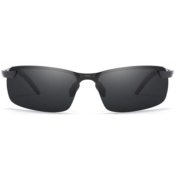 Semi-randloze zonnebril - Zwart Gepolariseerd