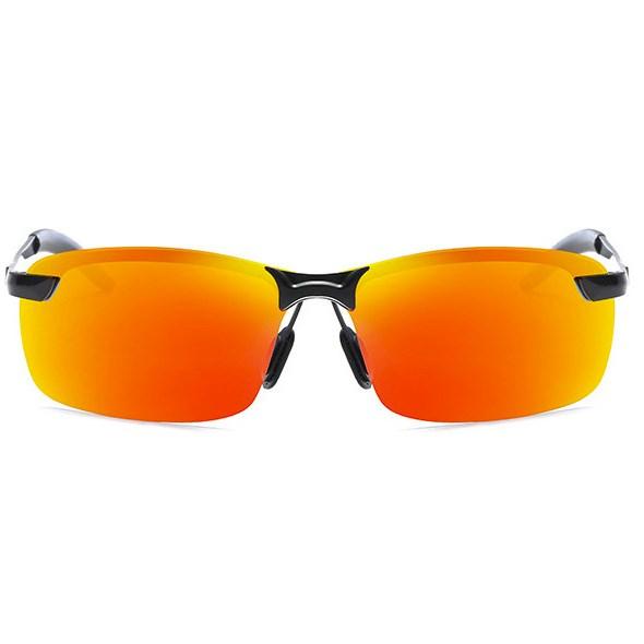 Semi-randloze zonnebril - Rood Gepolariseerd
