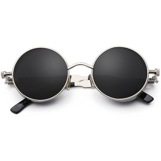 a0f69bd2206c0d Ronde Steampunk zonnebril - Zwart Zilver - Alle zonnebrillen - Ronde ...