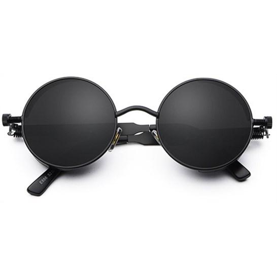 4e734bb1672f86 Ronde Steampunk zonnebril - Zwart - Alle zonnebrillen - Ronde ...