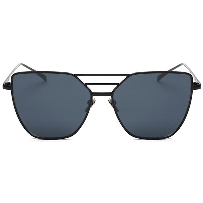 Tri-bar cat-eye zonnebril - Zwart