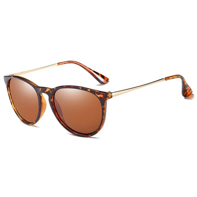 Classy vintage zonnebril - Leopard Gepolariseerd