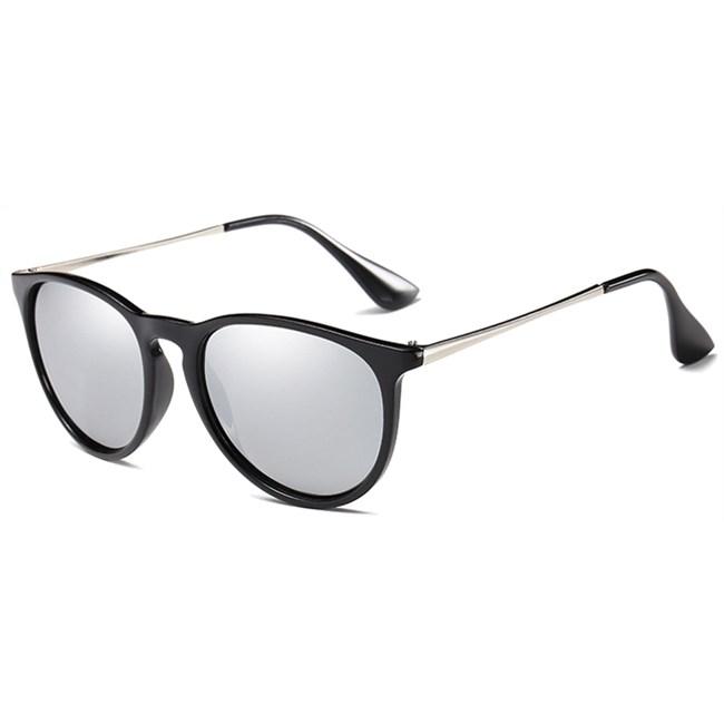 Classic Erika vintage zonnebril - Zilver Gepolariseerd