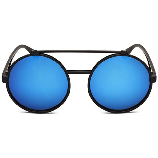 Vintage ronde zonnebril - Blauw