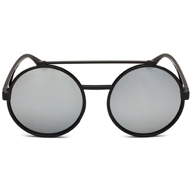 Vintage ronde zonnebril - Zilver