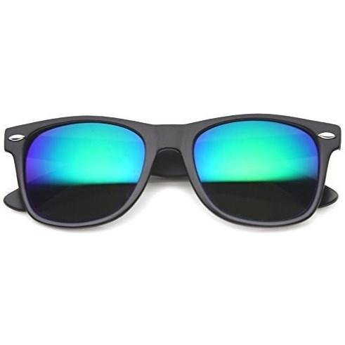 Wayfarer zonnebril spiegelglazen - Blauw/Groen