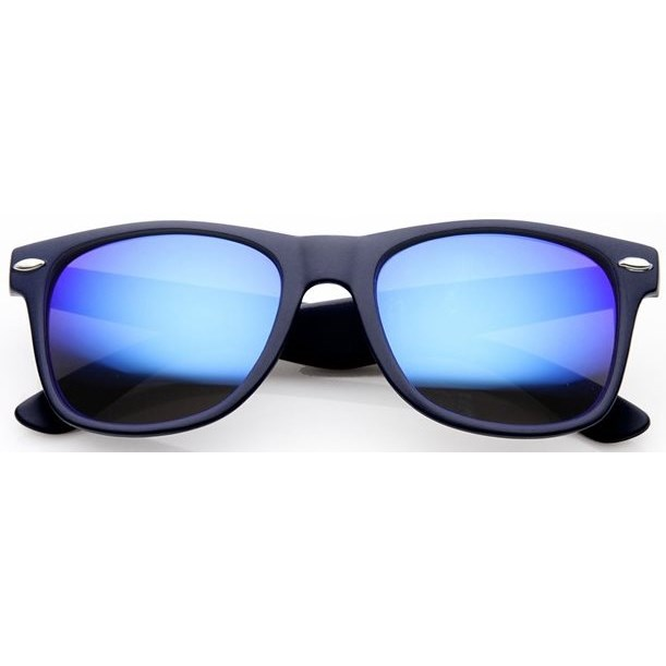Wayfarer zonnebril spiegelglazen - Blauw Gepolariseerd