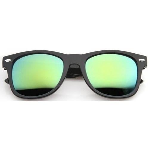 Wayfarer zonnebril spiegelglazen - Groen/Geel