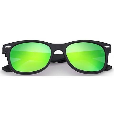 Wayfarer zonnebril spiegelglazen - Groen Gepolariseerd