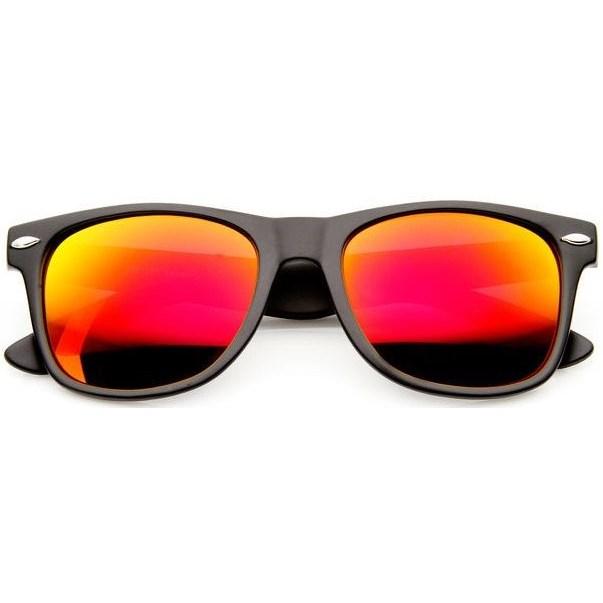 Wayfarer zonnebril spiegelglazen - Oranje Gepolariseerd