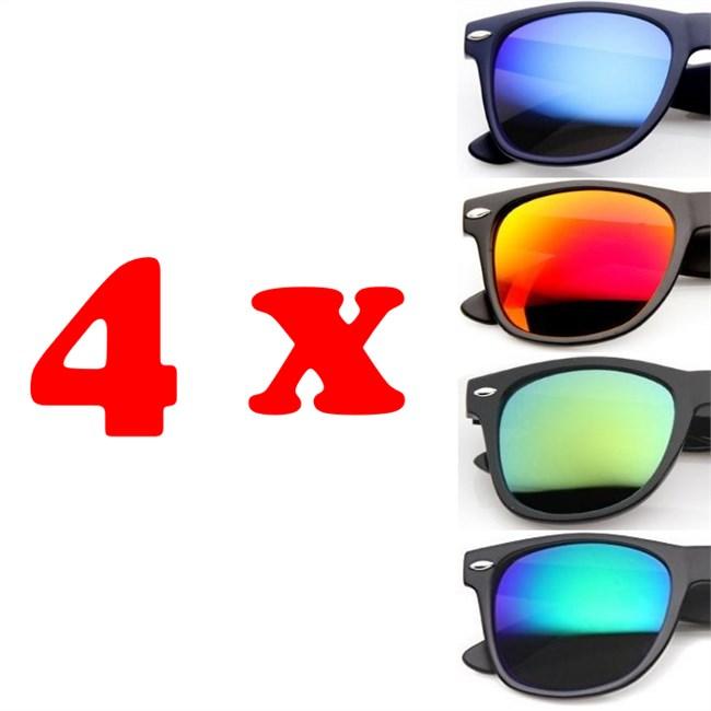 Wayfarer zonnebrillen - 4 stuks