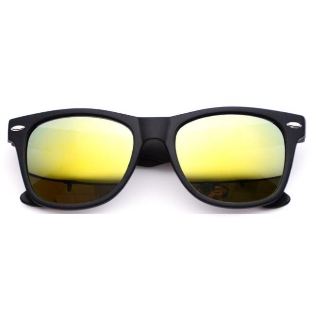Wayfarer zonnebril spiegelglazen - Geel Gepolariseerd