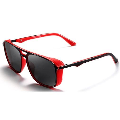 """Heren zonnebril """"Windy"""" - Zwart/Rood Gepolariseerd"""