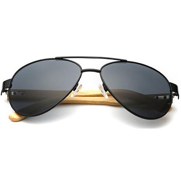 "Pilotenbril ""Woody"" - Zwart"