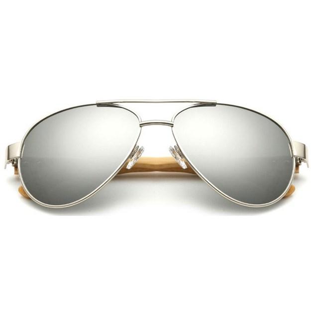 """Pilotenbril """"Woody"""" - Zilver"""