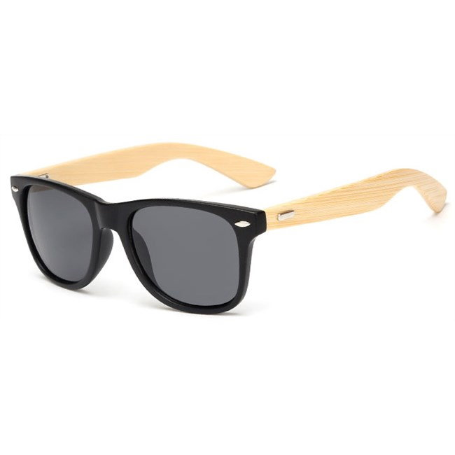 "Wayfarer zonnebril ""Woody"" - Matte Zwart"