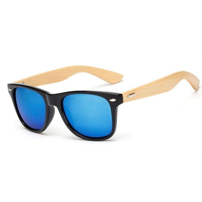 """Wayfarer zonnebril """"Woody"""" spiegelglazen - Blauw"""