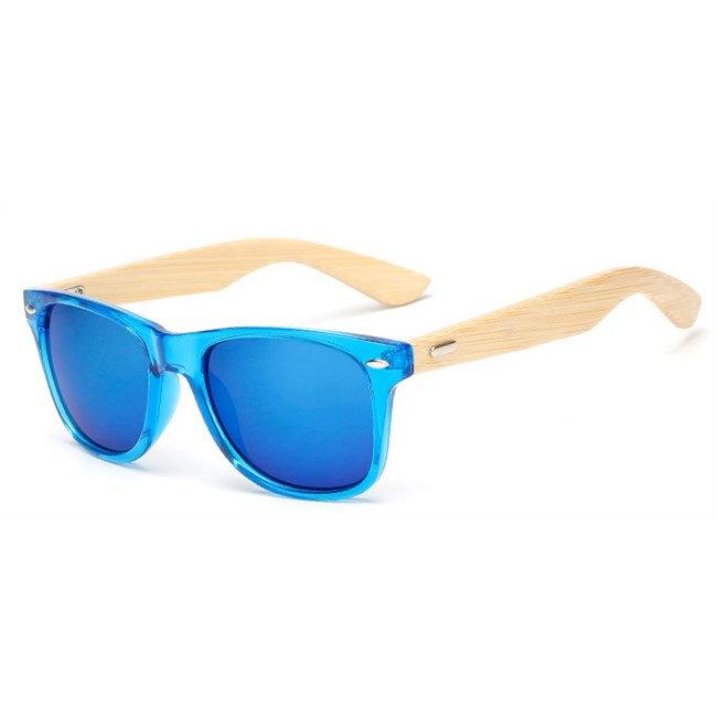 "Wayfarer zonnebril ""Woody"" - Blauw"