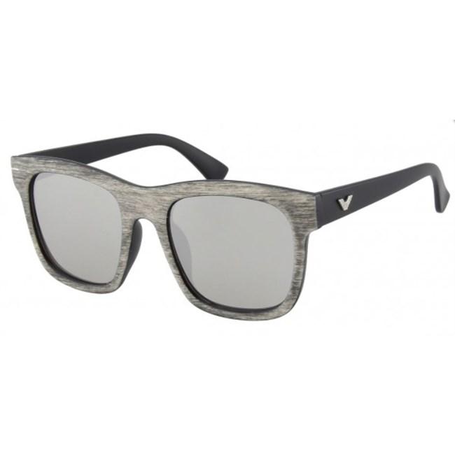 Houtlook zonnebril - Spiegelglas Zilver